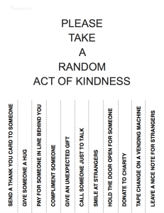 Please Take a Random Act of Kindness -MyGrateful.Life