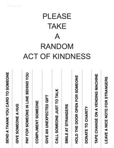 Please Take a Random Act of Kindness -MyGrateful.Life