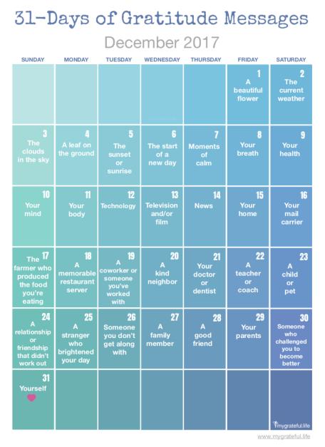 31-Days of Gratitude Messages
